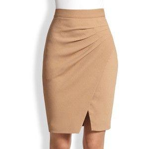 L'AGENCE Asymmetrical Draped-Pleat Wrap-Effect Skirt