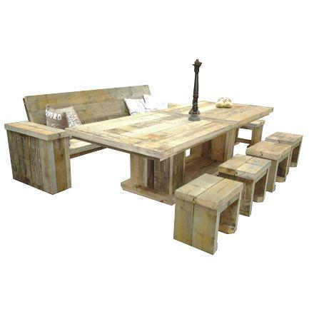 Damwandhout set 'Hamburg' een stoere, moderne set samengesteld uit meubelen van damwandhout. Deze set is geschikt voor in de tuin maar zeker ook voor horeca gebruik, stevig en duurzaam. Afwerking Standaard zijn onze damwandhout meubelen naturel en splintervrij geschuurd. Wilt u een andere afwerking zoals; beits, lak, olie of whitewash/ [...]