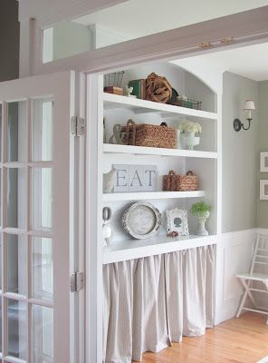 in the place of cabinet doors dining room built ins city farmhouse: room built ins city farmhouse
