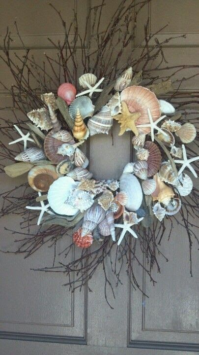 DIY Idea ~ Sea shell wreath