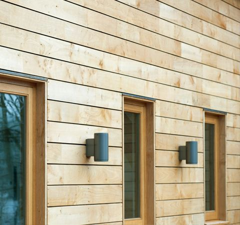 Jointed sweet chestnut cladding on the award winning Sawmills building in Henley