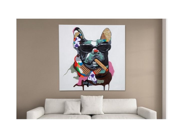 Obraz Pop Art Big Boss Hund duży — Obrazy Invicta Interior — sfmeble.pl
