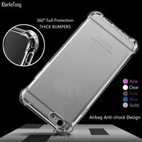 Transparent 3D Shockproof Thick Phone Cases Cover for iPhone 6 6s / 6Plus 6s plus Colorful Silicone Case