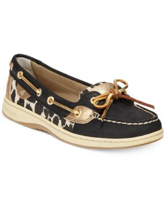 Black 8!! Sperry Women's Angelfish Leopard Boat Shoes | macys.com