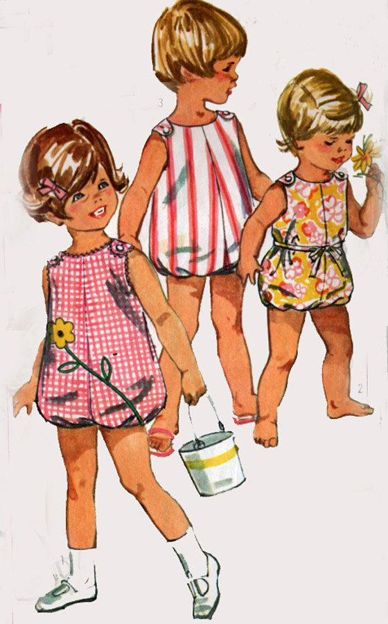 Vintage 60s Simplicity 6036 Toddlers Cutest SunSuit by sandritocat, $10.00