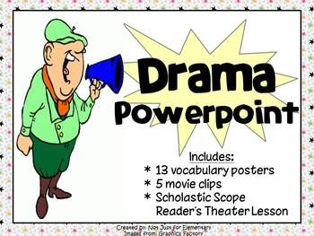 Drama Powerpoint w/ Video Clips, Vocabulary Posters ...