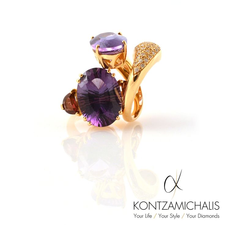Dazzling amethyst creation ready to impress even the most demanding people #KontzamichalisJewellery