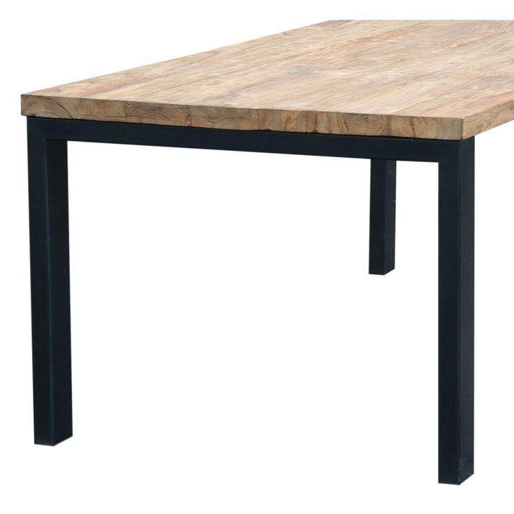 Design tafel teak met zwart frame - Eetkamertafels - Tafels | Zen Lifestyle