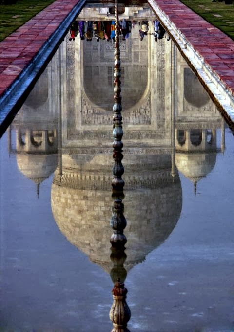 Taj Mahal Water Reflection India