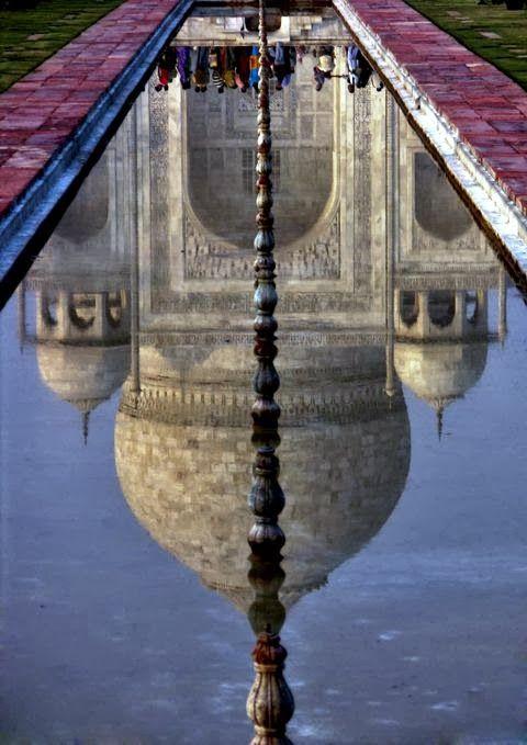 Taj Mahal Water Reflection India