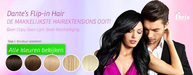 Flip-in hair online kopen | Gratis Verzending | Thrix