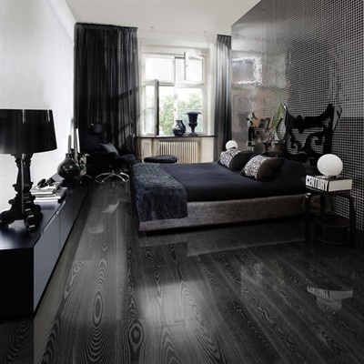kahrs ash black silver engineered wood flooring shiny