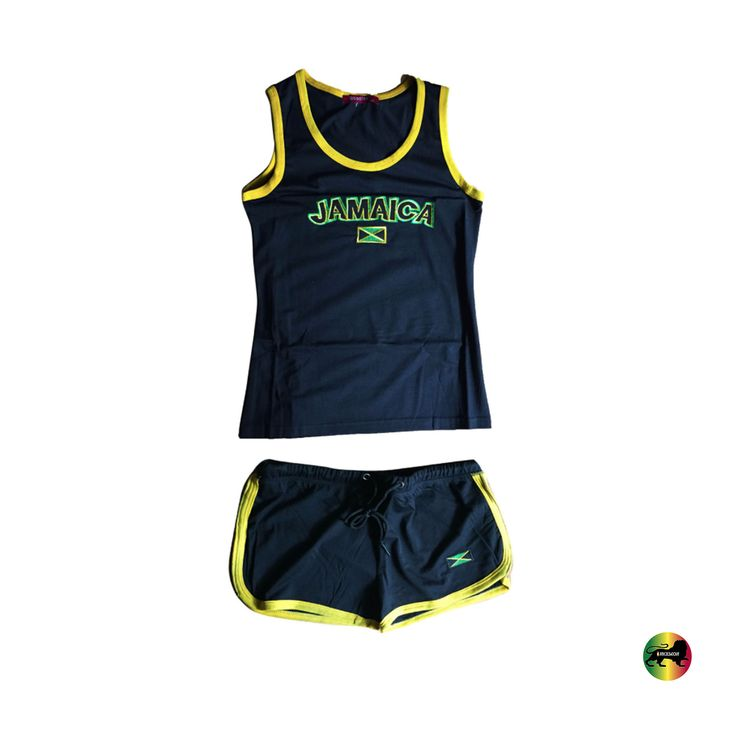 Jamaica Top & Shorts Set Jamaican Colors Reggae Wear Style Irie Kingston 1Love