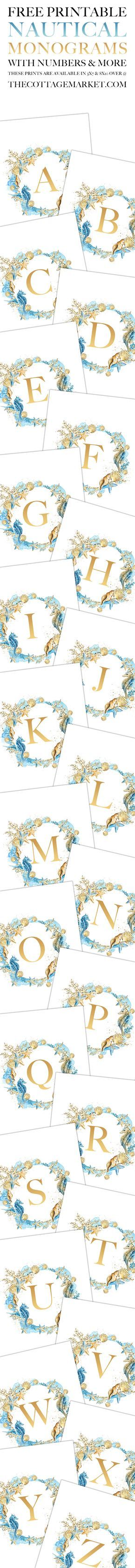 Free Printable Nautical Monograms and More