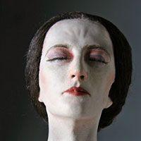 Anne Boleyn Death Mask | Right closup color image of Queen Anne Boleyn