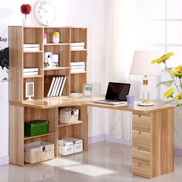 Hogar de escritorio escritorio de la computadora esquina estantería combinación con muebles mesa