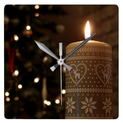 #Christmas candle clock - #Xmas #ChristmasEve Christmas Eve #Christmas #merry #xmas #family #holy #kids #gifts #holidays #Santa