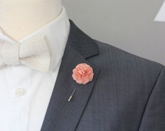 Elegant White Carnation boutonniere mens lapel flower by Nevestica