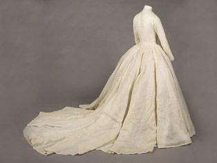 Princess Margaret's magnificent bridal gown, imagined, designed and created by sir Norman Hartnell.
