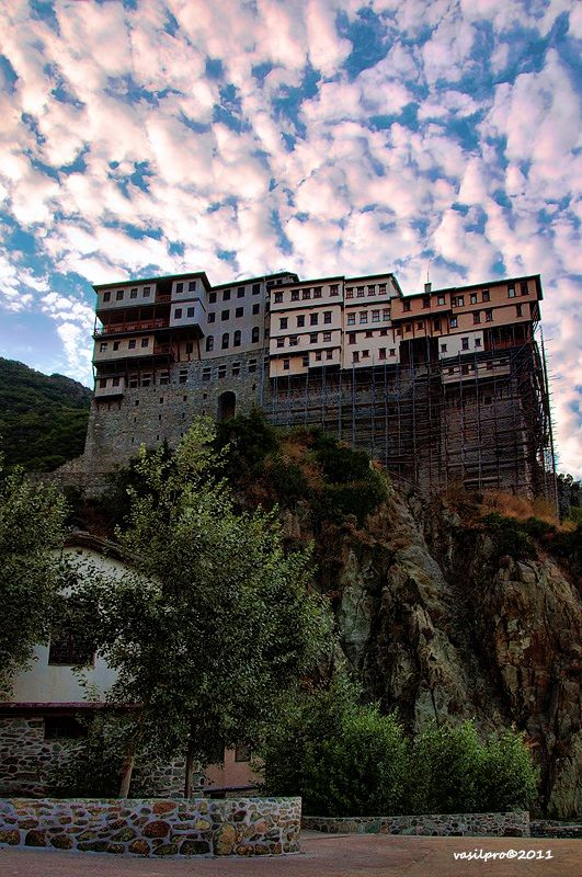 This is my Greece | Dionysiou monastery is an Eastern Orthodox monastery at the monastic state of Mount Athos in Greece in southwest part of Athos peninsula