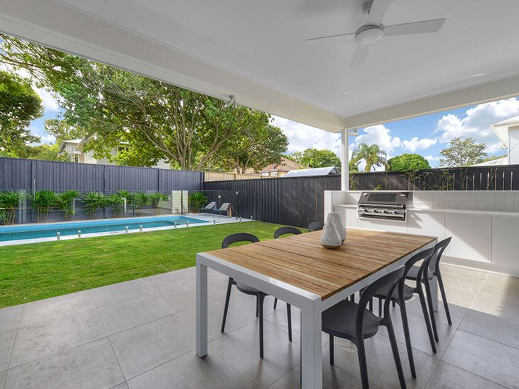 A kalka patio and pool, perfect for entertaining in the Brisbane summer.