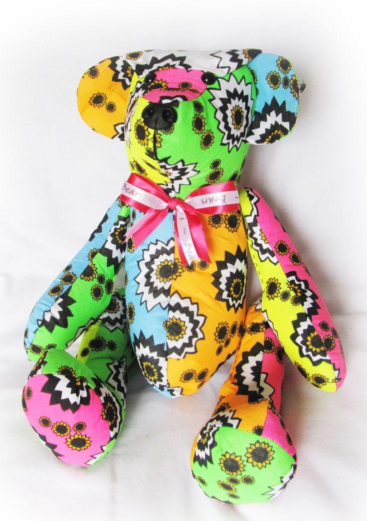#64 - Sunflower Fund Bandana Day (2013) Bear donated to the Ward for all the staff's hard work #Sunflower_Fund #Teddie_Bear