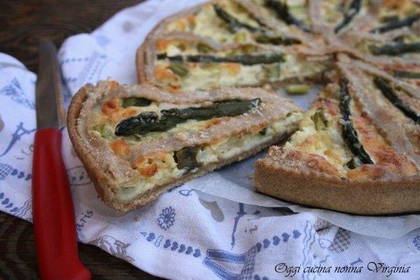 Crostata+salata+asparagi+e+ricotta