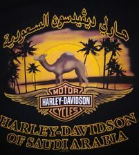 "Harley Davidson ""Shut up and Ride"" Saudi Arabia Mens Black T Shirt Medium"