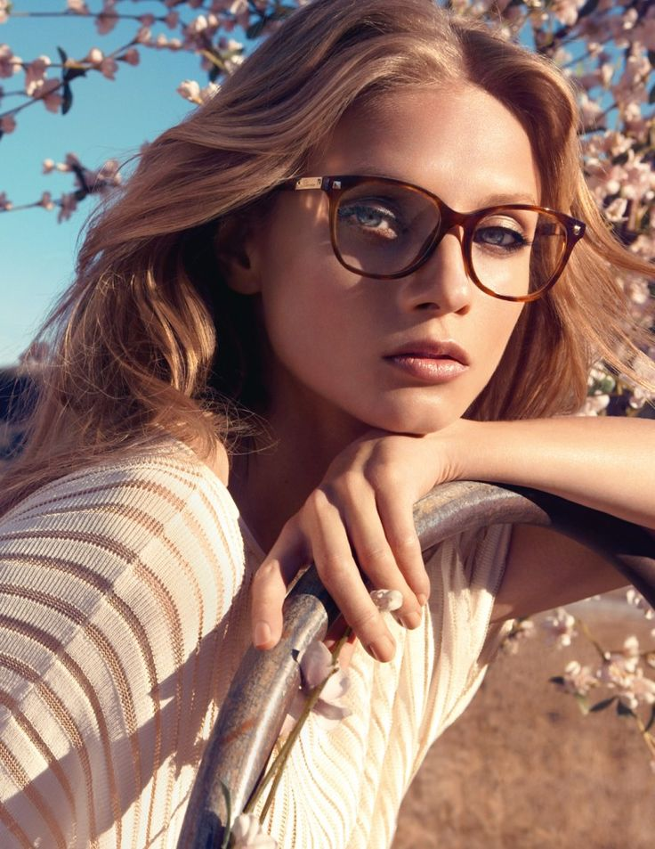 Larger frames oh so flattering. Anna Selezneva Stuns in Blumarines Spring 2013 Campaign by Camilla Akrans #eyewear