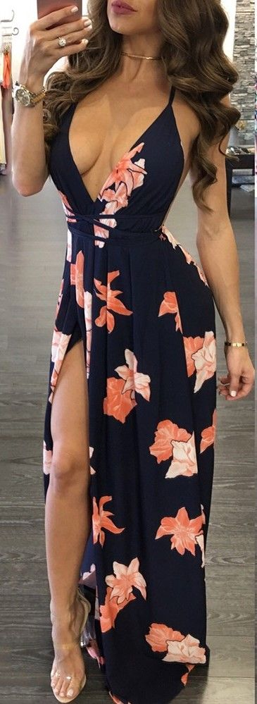 2017 Tropical Floral Maxi Dress, Up to 80% Off, FREE Shipping Worldwide