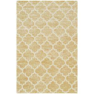 Ručne tuftovaný žltý koberec Diamond, 153x244cm