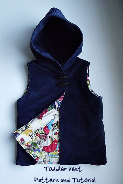 Hooded Vest Pattern and Tutorial