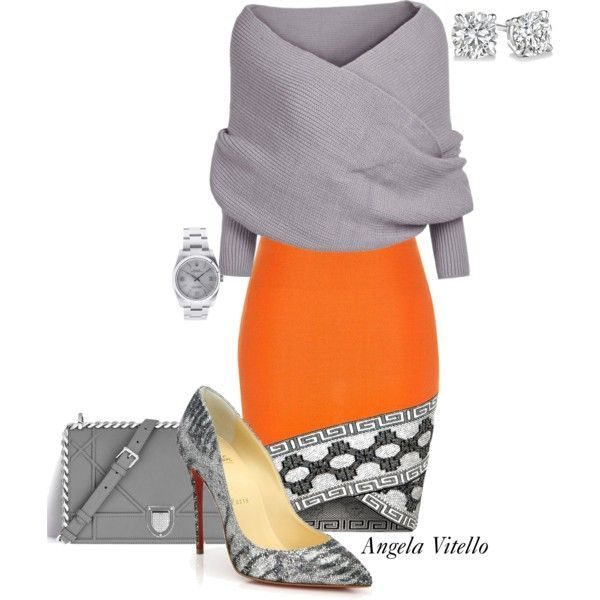 A fashion look from November 2015 featuring River Island skirts, Christian Louboutin pumps and Rolex watches. Browse and shop related looks.