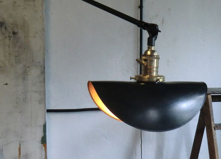 WO AND WÉ COLLECTION: Lampe murale potence vintage pivotante bras télescopique