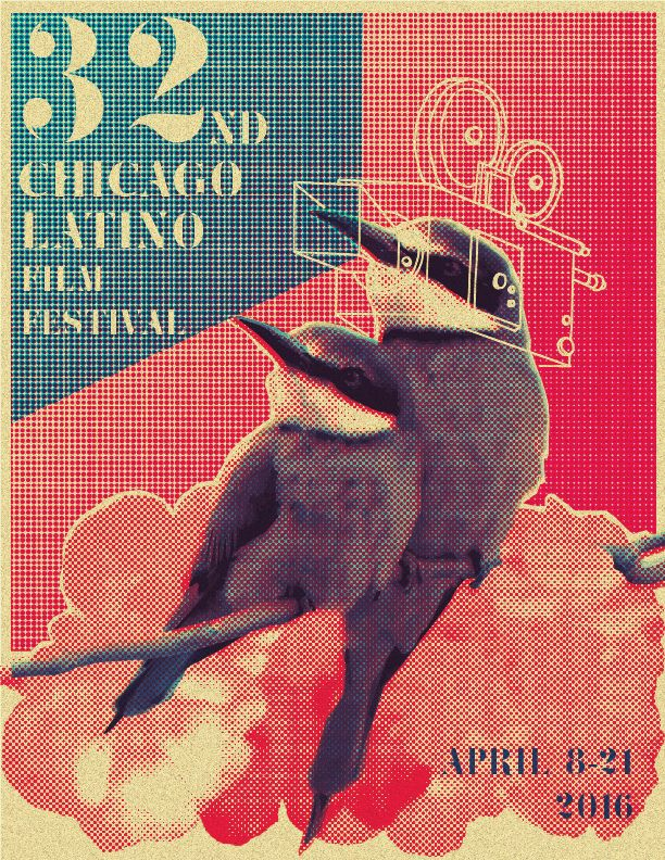 Poster for Chicago Latino film festival. Adigone Kaklidi