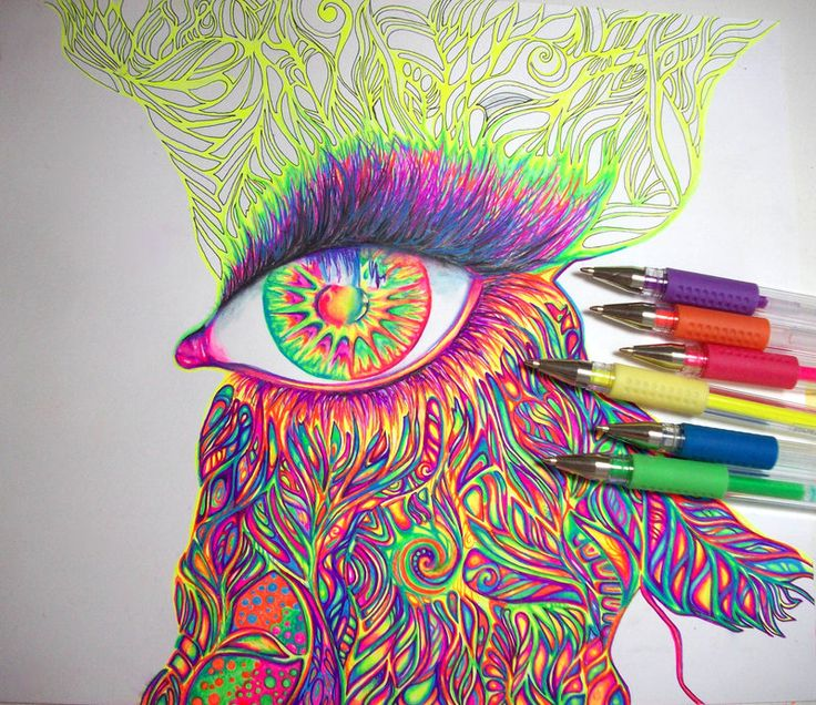 random colorful doodles