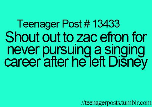 Hahahahahahahaha... The sad thing is he is one of the only ones that actually can sing.