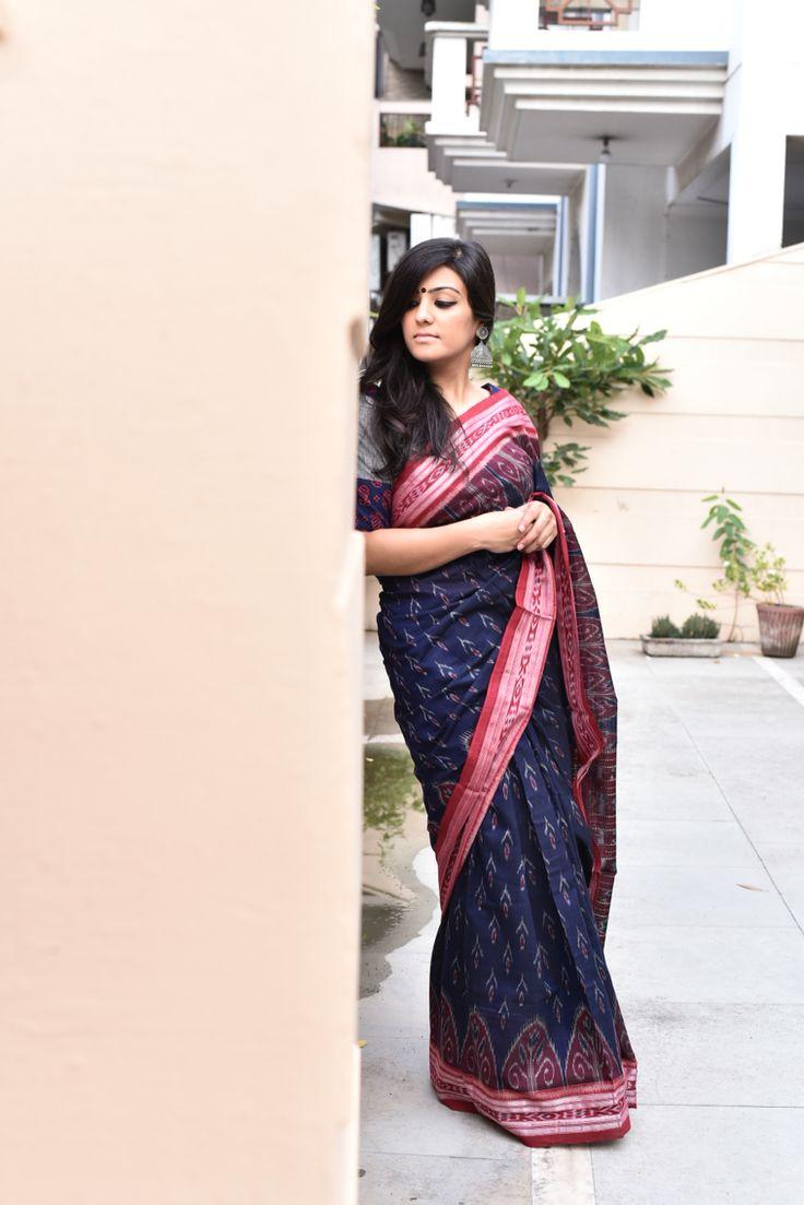 Ikkat cotton sambalpuri sari