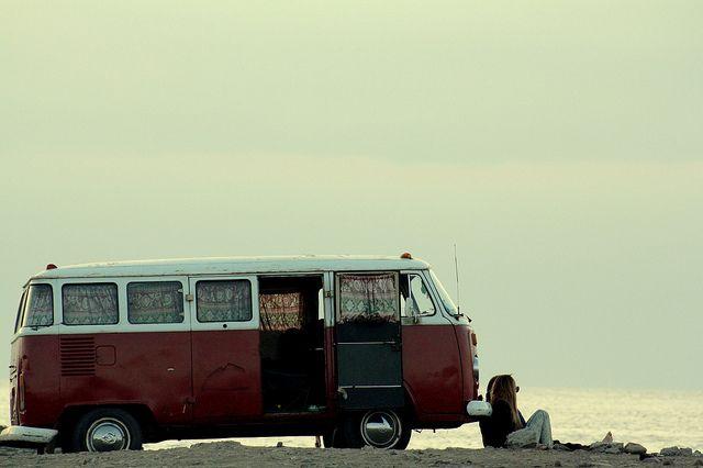 VWBuses, Old Schools, The Roads, At The Beach, Vw Bus, Travel, Roads Trips, Vw Vans, Dreams Cars