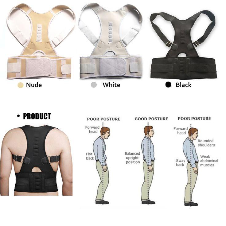 Adjustable Magnetic Therapy Posture Corrector Brace Shoulder Back Support Belt for Male Female Braces & Supports Belt