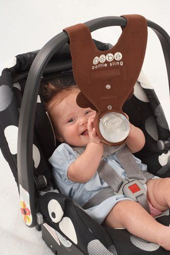 Never have to pull over to find a thrown bottle again! Bebe Baby Bottle Holder