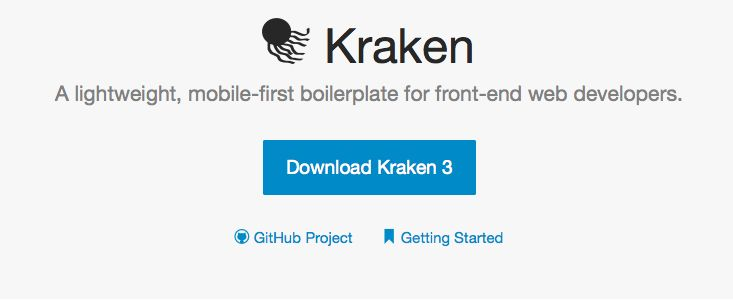 A lightweight, mobile-first boilerplate for front-end web developers. http://cferdinandi.github.io/kraken/