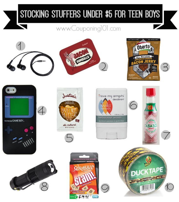 10 awesome stocking stuffer ideas for teen boys -- all under $5 each!