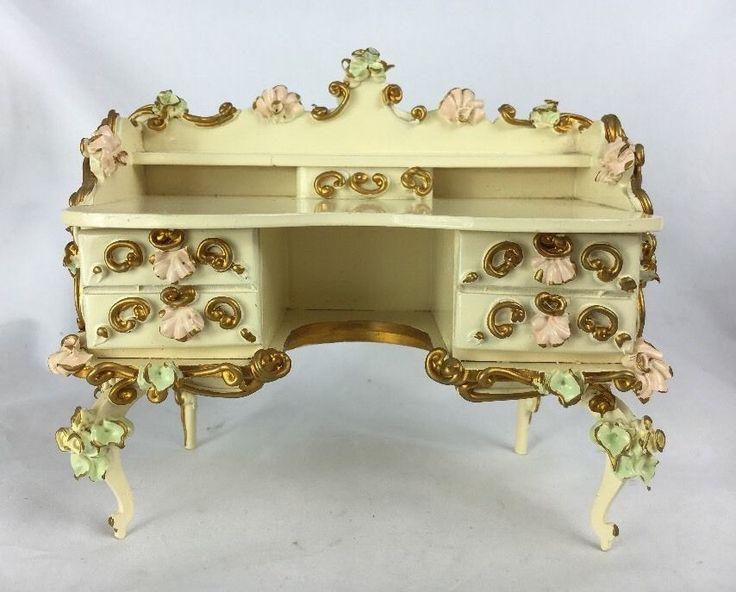 Beautiful Spielwaren Dollhouse Miniature Desk Credenza Boutique Szalasi | eBay