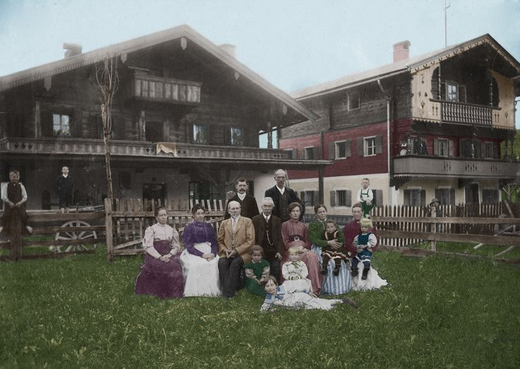 This is the only known photo of the Hitler Family together. The woman 2nd to the left in the purple dress is Klara, and the man 3rd to the left in the light brown jacket is Alois. And the boy in the last row, extreme right, in the green lederhosen is Adolf. I felt like I was colouring my own family, because I feel so attached to him. It was a little hard colouring this one because of it's desperately low quality, but I'm happy with the result