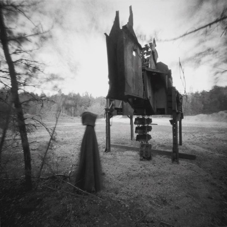 A portrait of death taken with a pinhole camera and bw film. Photo: Ulf Rehnholm @ulfrehnholm on Instagram
