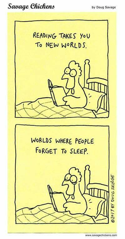 Worlds where people forget to sleep.