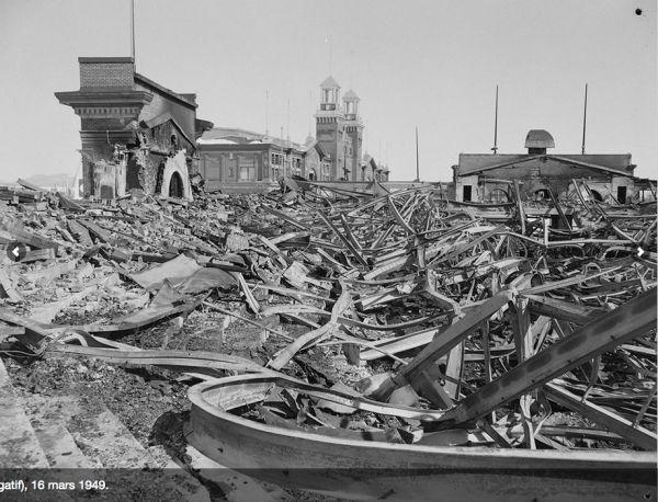 Colisée incendié, 16 mars 1949 | Découvrir Québec