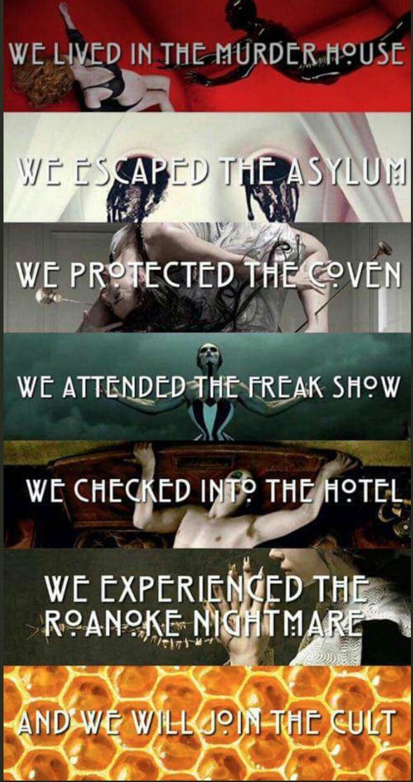 NEW | The AHS Meme Continues. AHS Cult this September on FX. Follow rickysturn/american-horror-story
