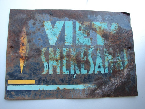 Vintage soviet union board  place regulatory sign in by Luckytage, €10.90